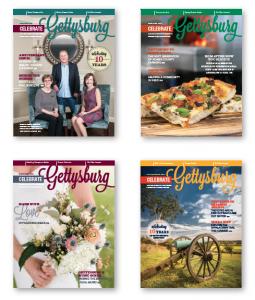 celebrate gettysburg magazine covers