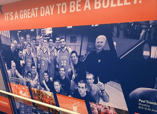 Gettysburg College National Championship wall