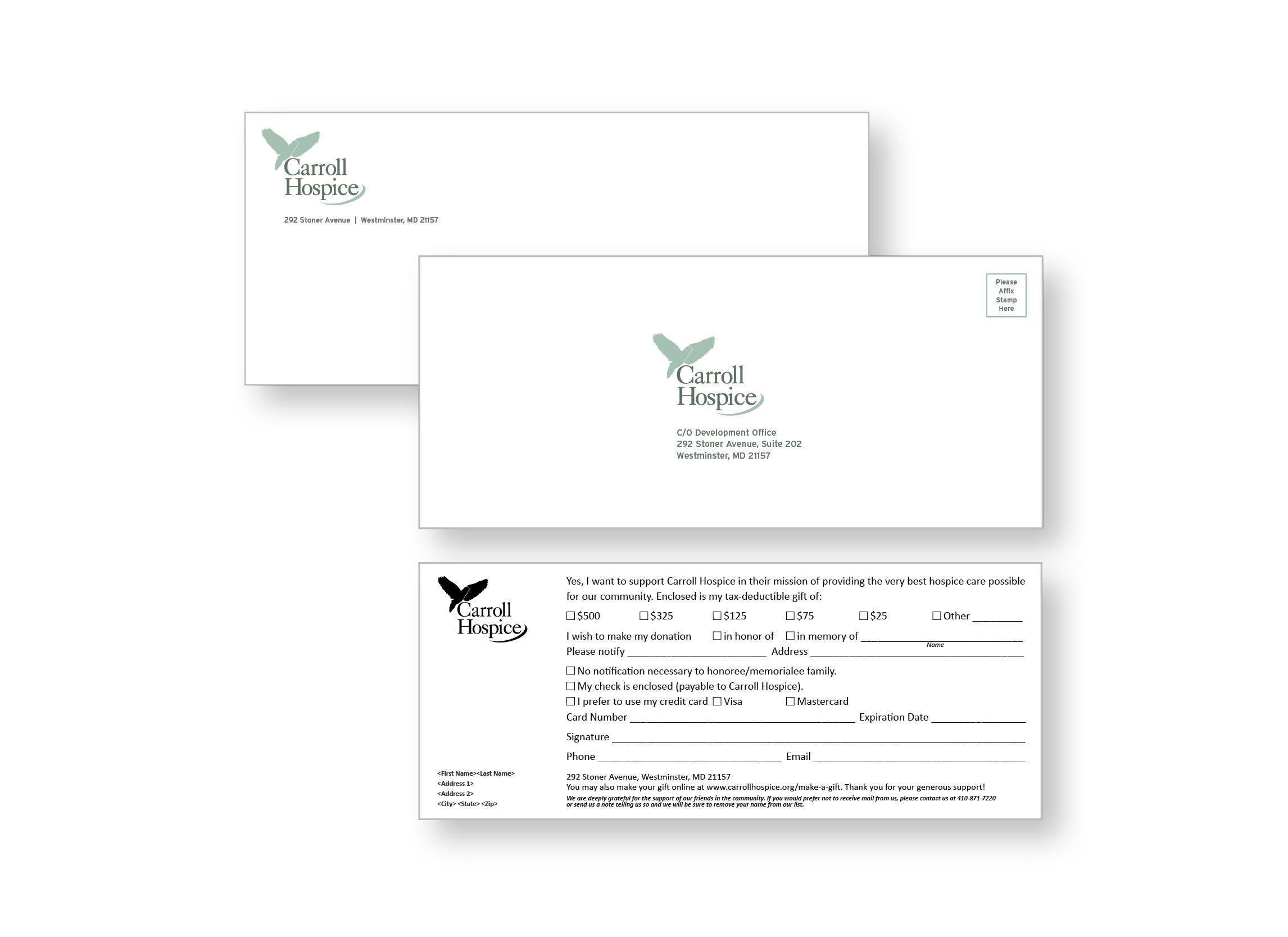 Carroll Hospice donation card