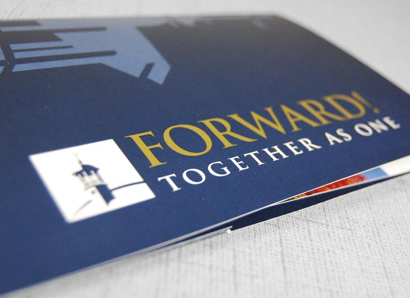 Mount St. Mary's University Capital Campaign printed sample