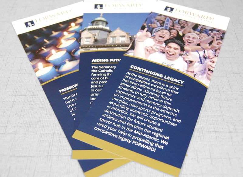 Mount St. Mary's University Rack Cards