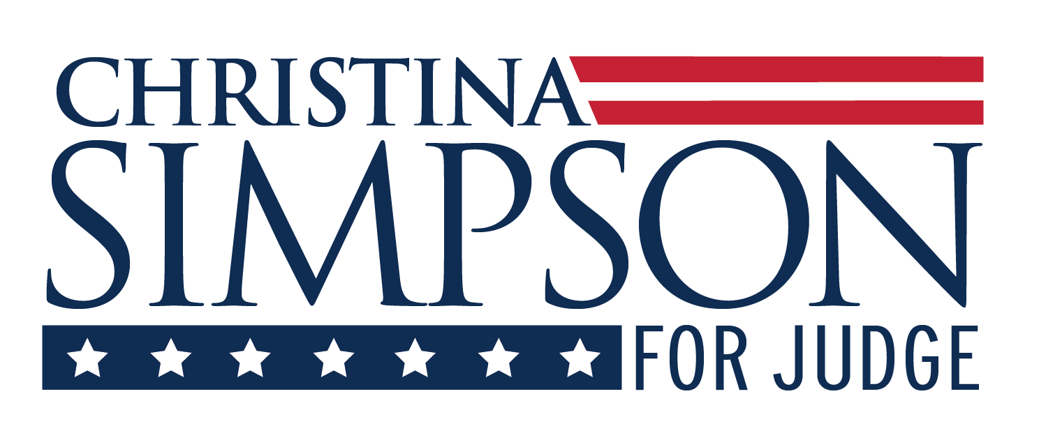 christina simpson for judge logo