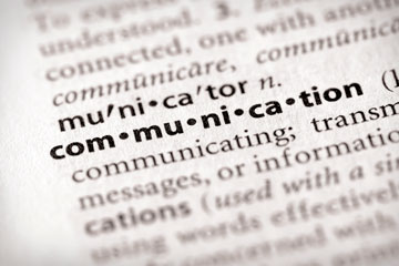 Communication dictionary definition