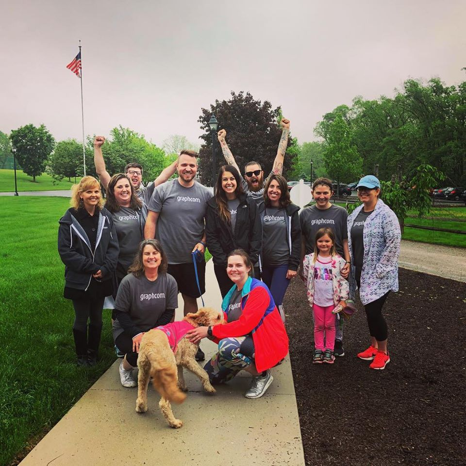 graphcom employees walk for healthy adams county
