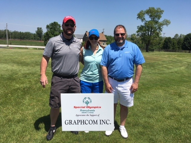 troy dean, jessica dean, and dave sandoe at special olympics pro bono golf event