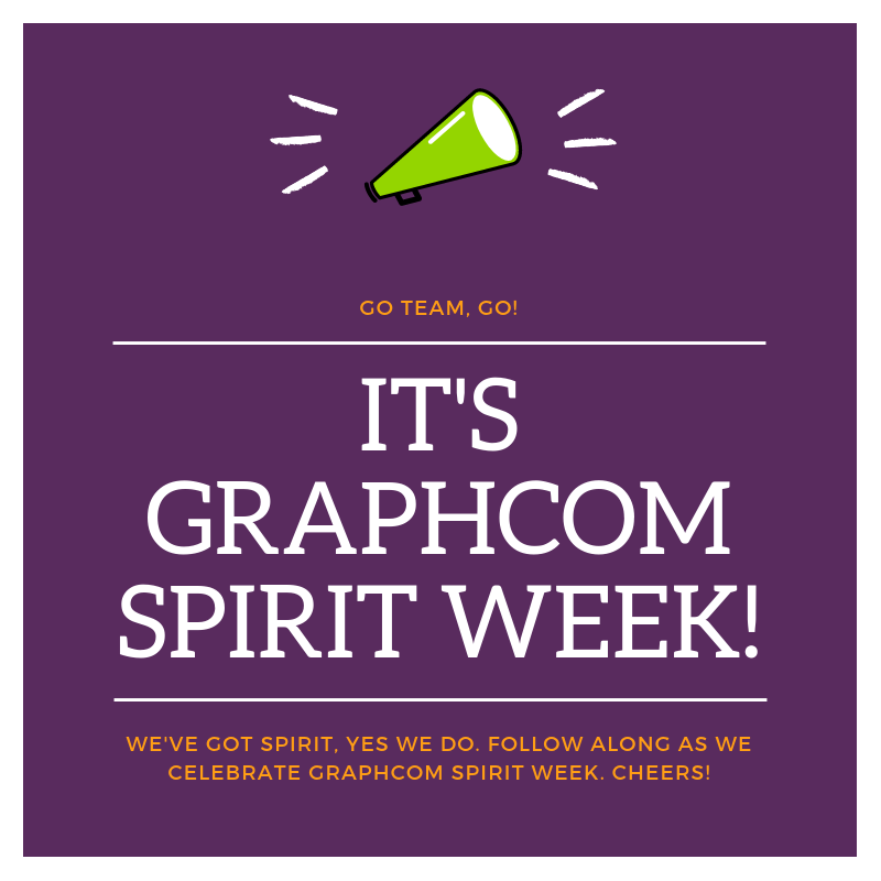 graphcom spirit week ad