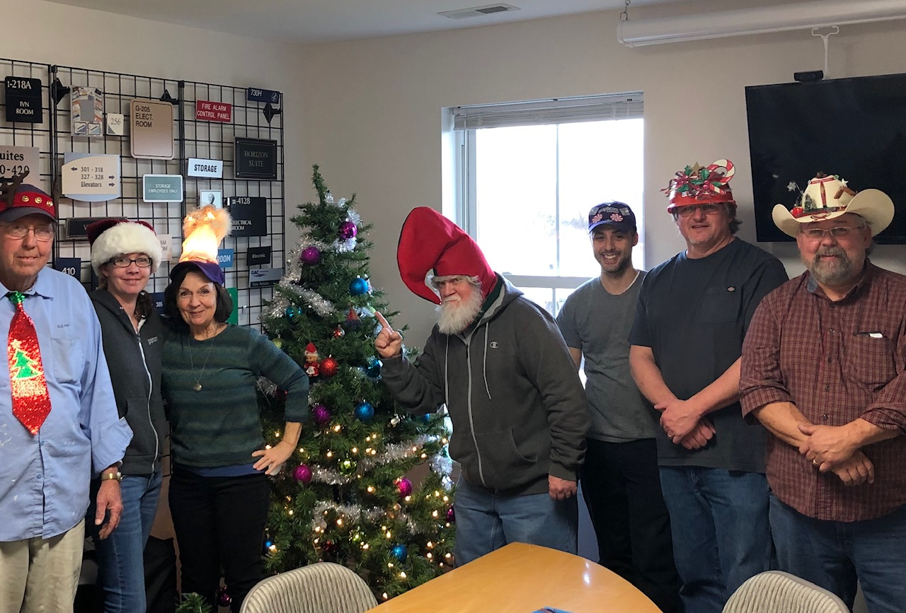 graphcom signage employees dressed up for holiday spirit week