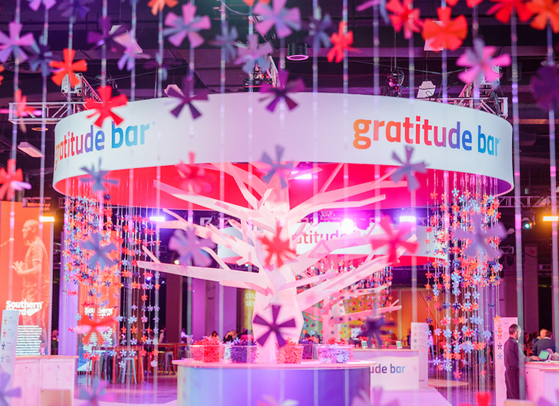 gratitude bar at workhuman event