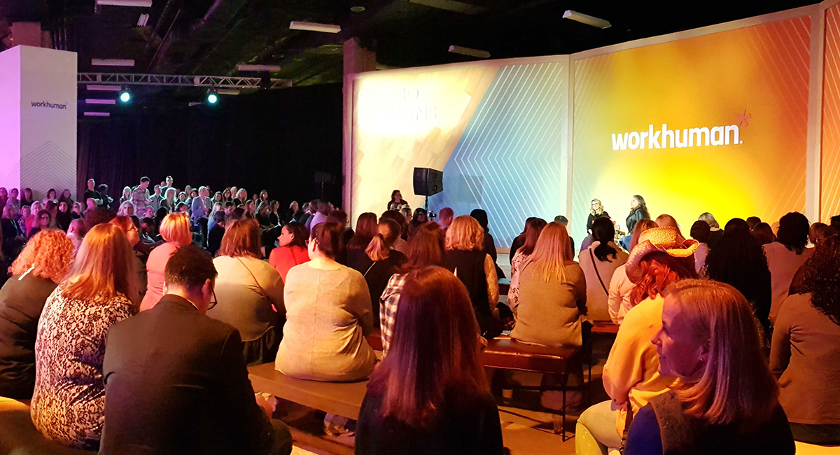 crowd at workhuman 2019 event