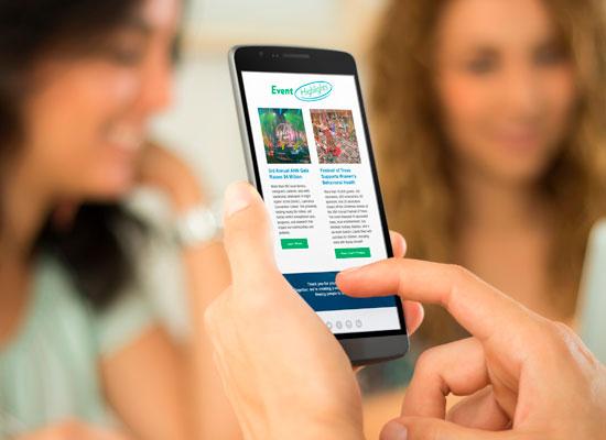 AHN E-newsletter on mobile view