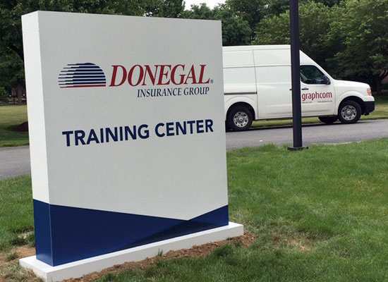 Donegal Insurance Group training center signage