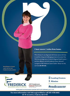 An example of Frederick Health's MD Anderson campaign material