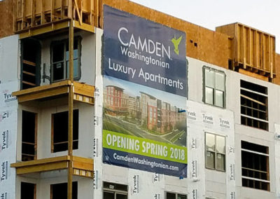 Temporary Banner for Camden Washingtonian Apartments