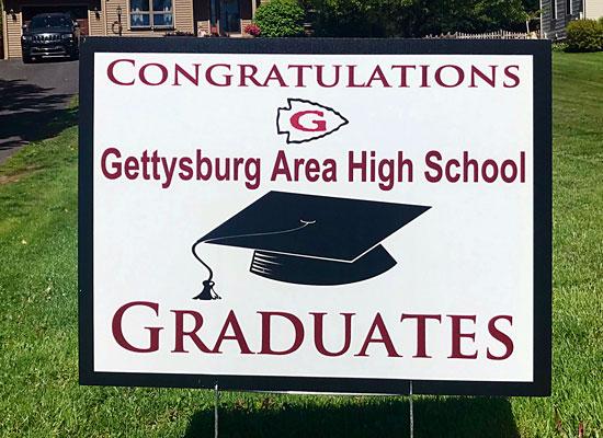 Gettysburg College Graduate sign
