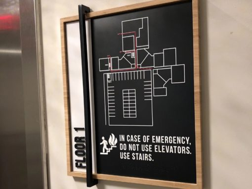 emergency directional signs