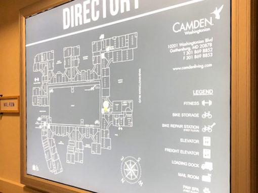 illuminated interior directory