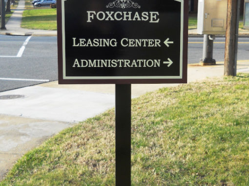 post and panel directional signage