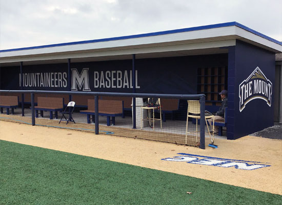the mount dugout signage