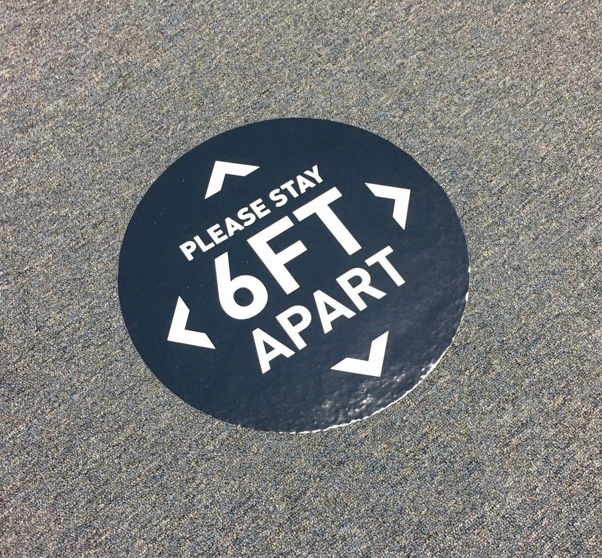 UV printed laminated floor decal