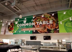 common market acrylic signage