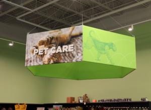 pet care hanging sign