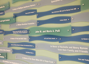 close up of donor plaques